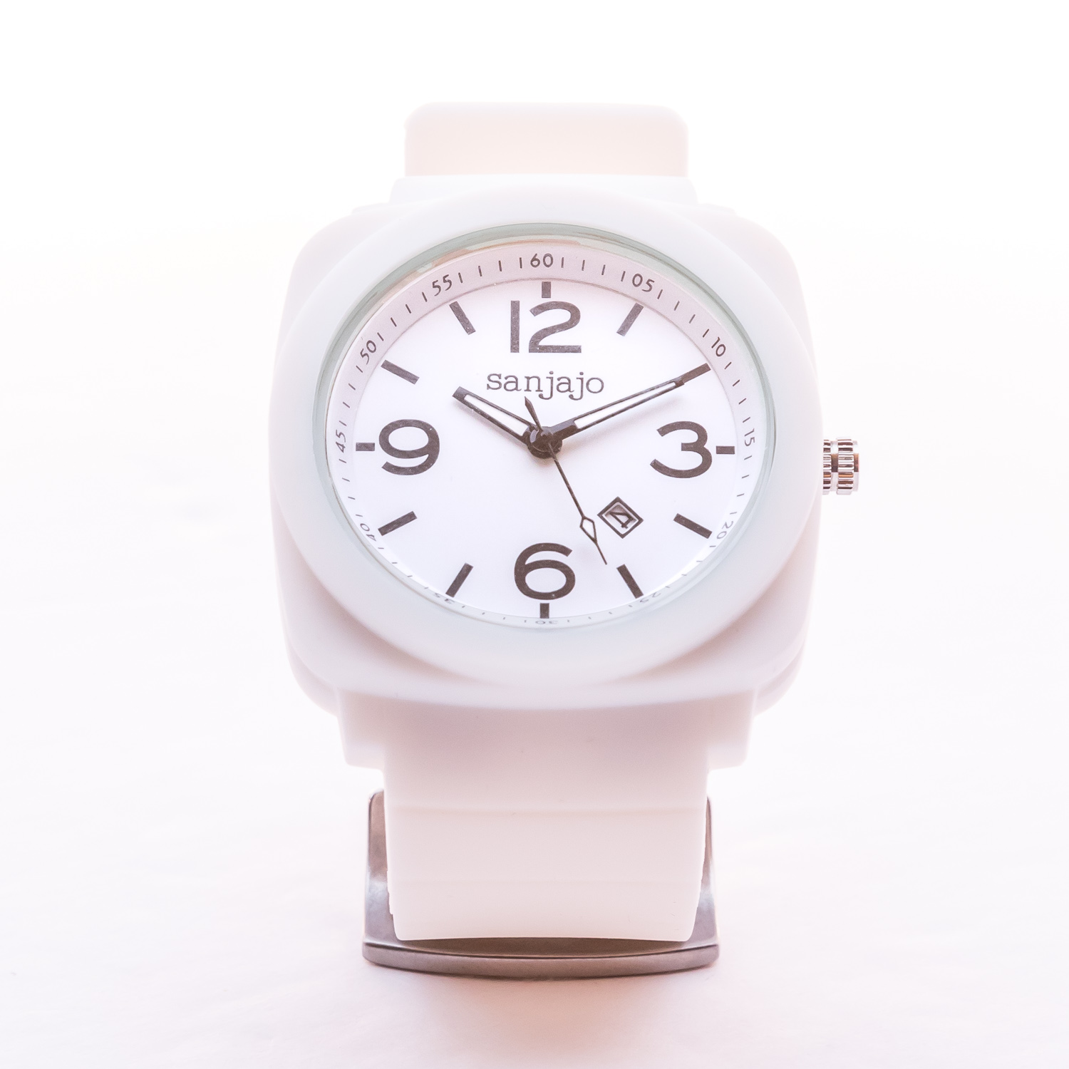 Sanjajo White on White Watch