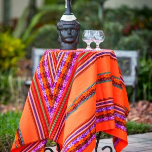 Peruvian Table Runner - Orange