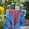 Peruvian Table Cloth - Table Runner - Light Blue