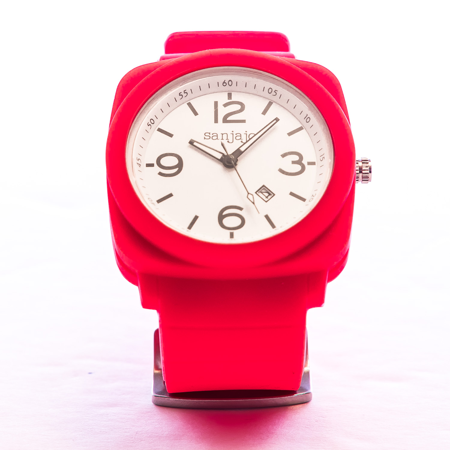Sanjajo Peruvian Red-White Patriot Watch