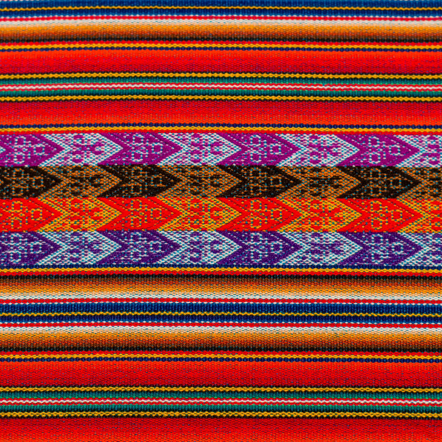 Peruvian Table Runner - Pattern